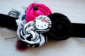 hello headband hello vintage rosette headband in zebra hot pink black