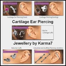 ear piercing studs karma7 cartilage ear piercing jewellery gifts 4 you