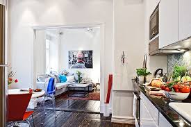 Small Swedish Apartment Securing the Inhabitant s Every Need Shop this look couch coffee table art