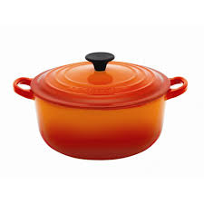 le creuset volcanic 20cm round casserole dish