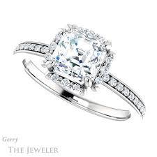 engagement ring setting asscher cut engagement ring setting gtj978 asscher w gerry the