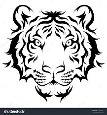 easy black and white tiger designs amazing