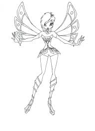 winx club stella colouring pages roxy aisha fairies print color