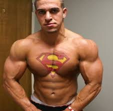 cool creative superman on chest tattoomagz
