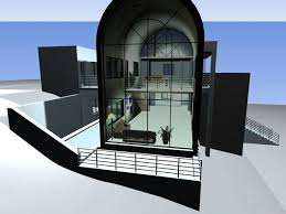 modern house design exterior bay window max 3ds max software