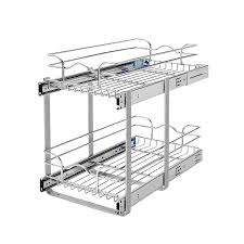 Lowes Shoe Storage Shop Rev A Shelf 11 75 In W X 19 In H Metal 2 Tier Pull Out
