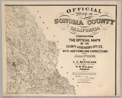 Los Angeles County Assessor Map by Official Map Of Sonoma County California David Rumsey