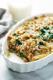 spinach and potato breakfast casserole recipe pinch of yum