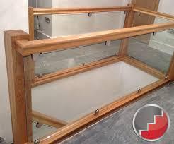 Landing Banister Glass Staircase Balustrade Oak Handrails Toughened Glass