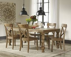 trishley rect ext table u0026 6 side chairs d659 35 01 6 dining