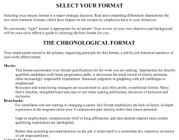 correct resume format proper resume format examples download