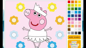 nickjr peppa pig coloring pages peppa pig ballerina youtube
