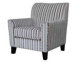 brookins velvet stripe arm chair uk delivery