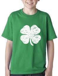 st patrick u0027s day vintage distressed 4 leaf clover kids t shirt