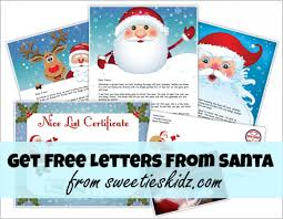how to get free letters from santa for the kids sweeties kidz