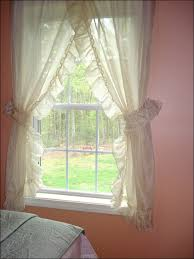 Energy Efficient Curtains Cheap Living Room White Priscilla Curtains In Cotton Energy Efficient