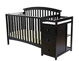 Black Convertible Cribs On Me Niko 5 In 1 Convertible Crib With Changer