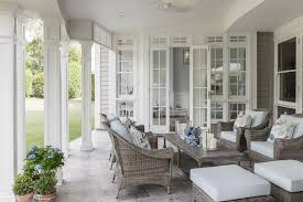 White Beadboard Ceiling by Covered Patio Transitional Deck Patio Interior Philosophy