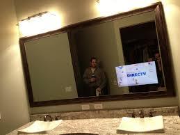 tv in a mirror bathroom diy bathroom vanity creative homes unique spaces pinterest