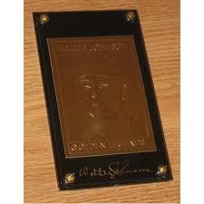 golden legends baseball gold card walter johnson