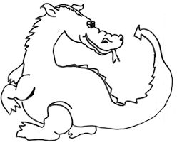 dragon tail coloring pages