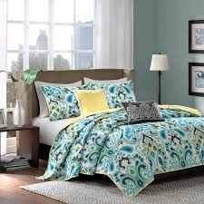 Green And Black Comforter Sets Queen Shop Madison Park Caprice Blue Ikat Collection The Home