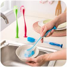 Kitchen Sink Brush Vertical Color Multifunction Handle Cleaning Brushes Kitchen