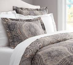 Covered Duvet Beale Paisley Duvet Cover U0026 Sham Pottery Barn Master Bedroom
