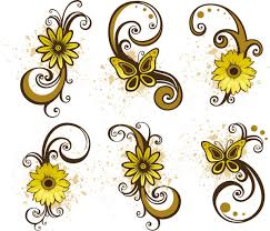 17 paisley swirl floral vector graphics images flower and swirl