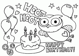 printable birthday pictures coloring home