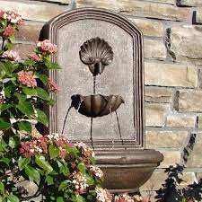 awesome outdoor fountain wall decorative wall garden fountains to