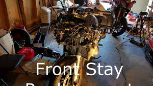 how to fix a broken mirror fjr 1300 front stay subframe