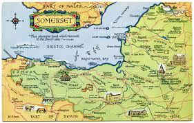 somerset map postcard map of somerset by m f peck j salmon ltd flickr