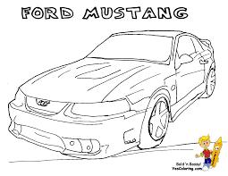 fierce car coloring ford cars free mustangs t bird car