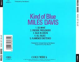 cd album miles davis kind of blue columbia europe
