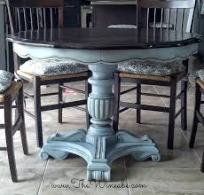 blue painted dining table ascp louis blue paint dining table makeover painted furniture