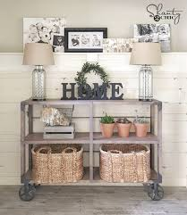 Industrial Console Table Diy Industrial Cart Console Table Shanty 2 Chic