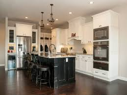White Kitchen Cabinets With Dark Island Stacked Moulding Glazed Kitchen Cabinets Off White Kitchen