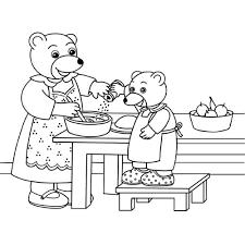 coloriage cuisine coloriage à imprimer personnages célèbres petit ours brun numéro