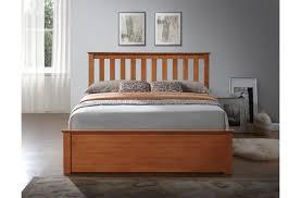 4 u00276 double wooden ottoman storage bed frame oak one stop