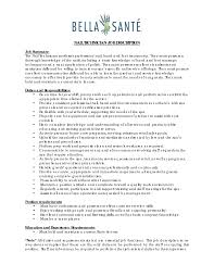Technical Resume Objective Nail Technician Resume Template