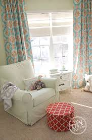 Fabric For Nursery Curtains Diy Tab Curtains With Blackout Fabric The Diy