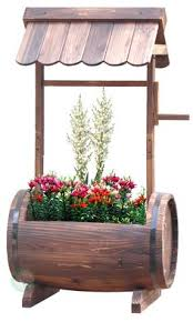 Wishing Well Garden Decor Cedar Wishing Well Planter Gardening Pinterest Planters