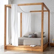 Best 25 Simple Wood Bed by Best 25 Wood Canopy Bed Ideas On Pinterest Canopy Bed Frame