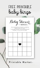 Download Baby Shower Games Free Baby Shower Printable Game Black And White Bingo Instant