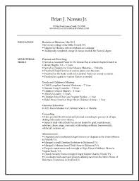 Sample Ministry Resume by Professional Skills Examples For Resume