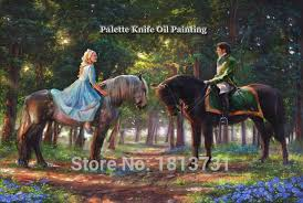 kinkade paintings tendresse giclee canvas