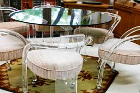 table and 6 chair set lucite dining table 6 chairs set by charles hollis jones 1960s