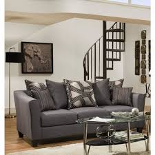 black microfiber sofa