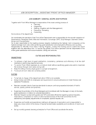 ideas collection sample resume resume front office manager job duties and with additional front office agent cover letter